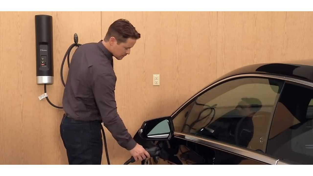 Charging an electrical vehicle at home.
