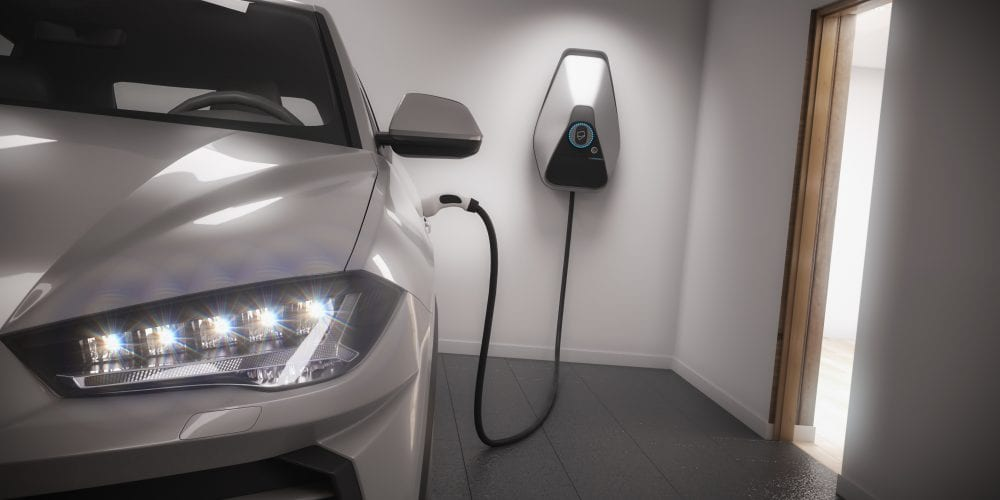 Electrical vehicle charging in a garage