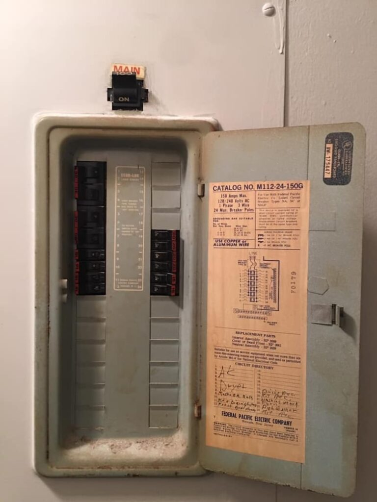 "Example of a ""stab lok"" electrical panel."