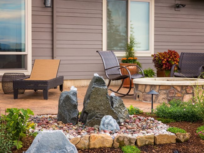 water feature for landscape design